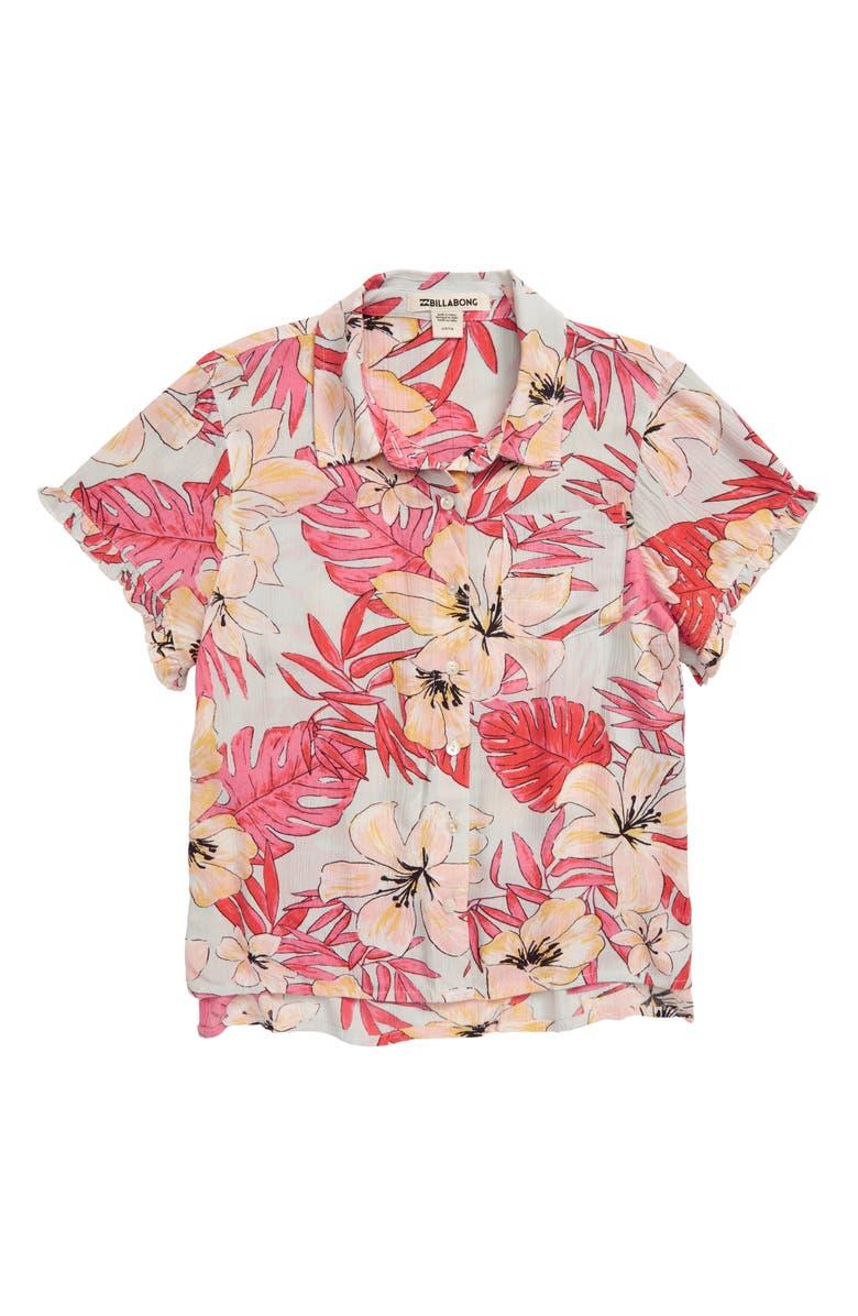 BILLABONG Boys Drool Print Woven Shirt, Main, color, 650
