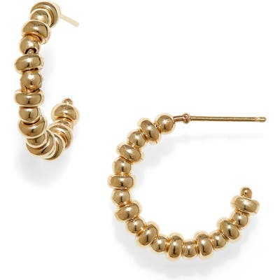 Zoe Chicco Small Beaded Hoop Earrings