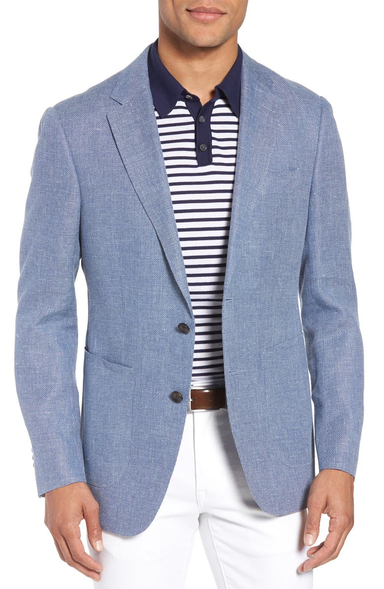 RODD & GUNN Enfield Way Linen & Wool Blazer, Main, color, STONEWASH