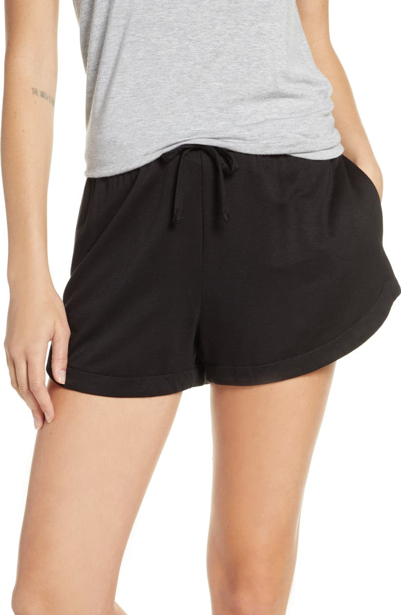 SOCIALITE Pajama Shorts, Main, color, BLACK