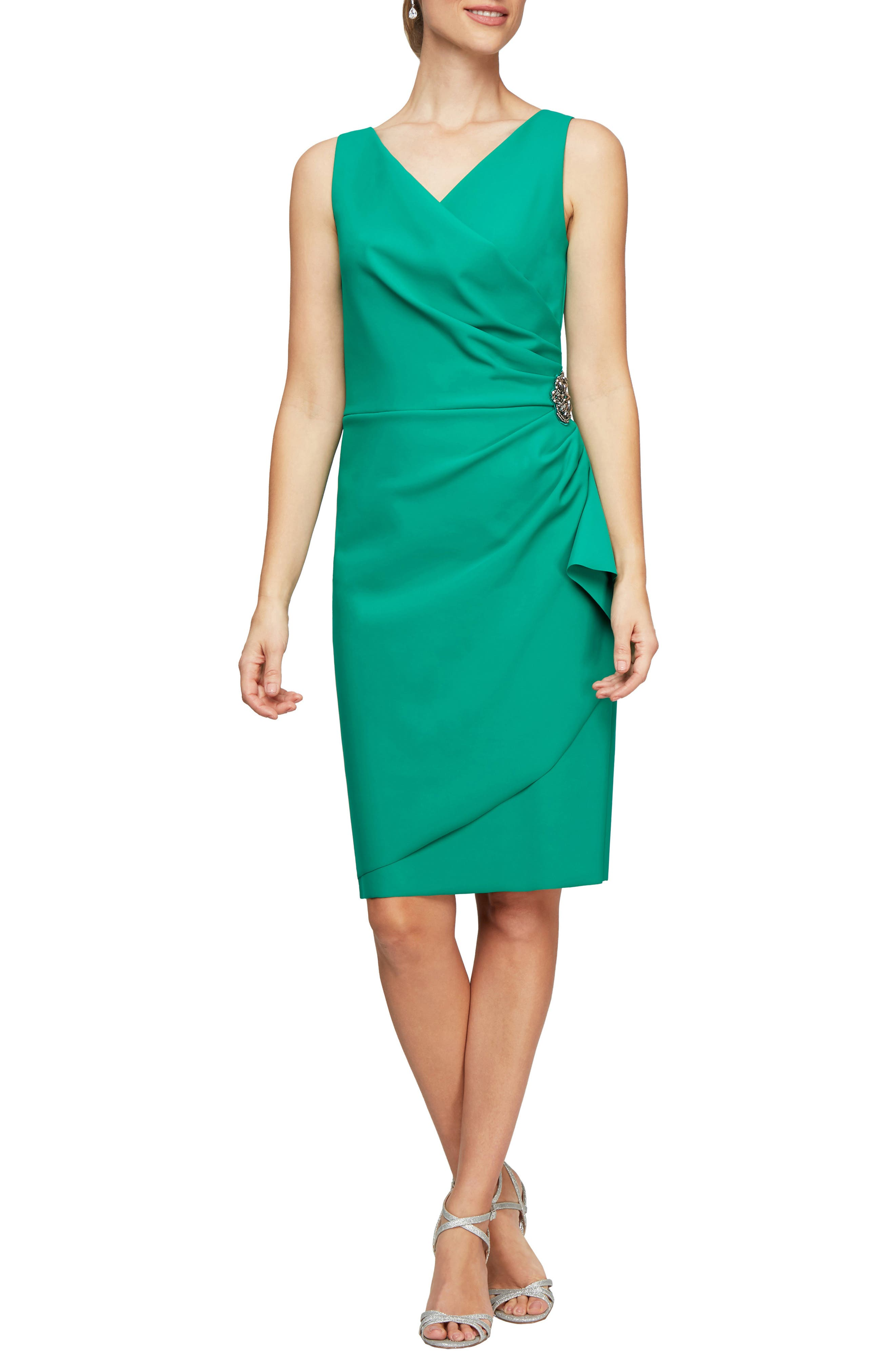 Side Ruched Cocktail Dress
