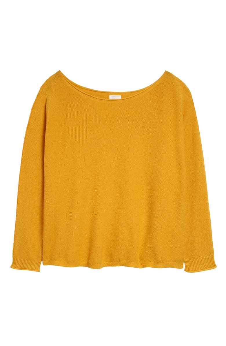 CASLON<SUP>®</SUP> Fine Gauge Sweater, Main, color, YELLOW MINERAL