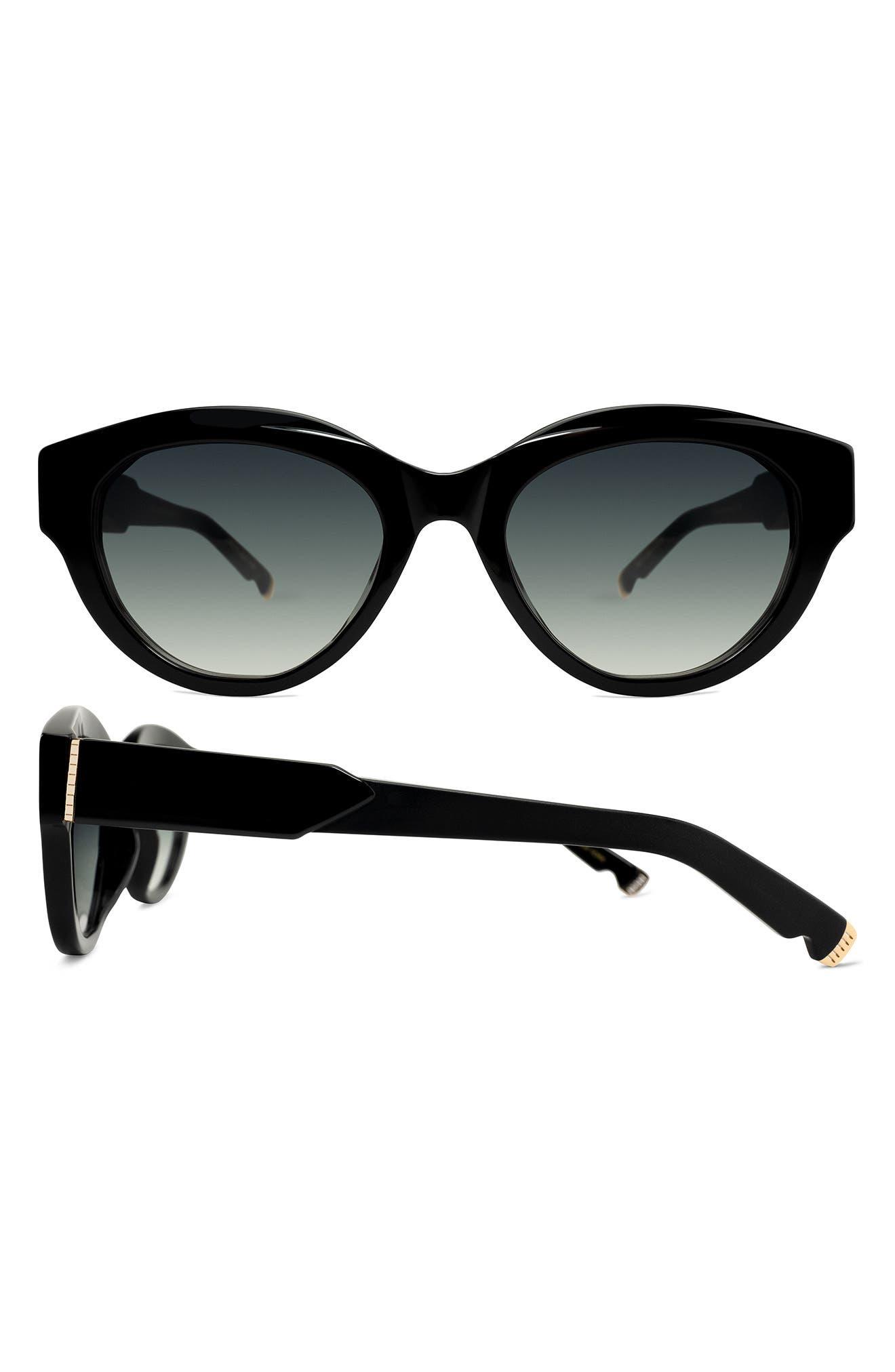 Peyton 53mm Gradient Oval Sunglasses