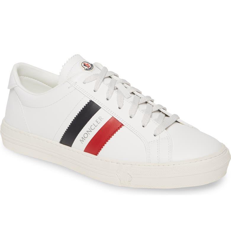 MONCLER New Monaco Low Top Sneaker, Main, color, WHITE