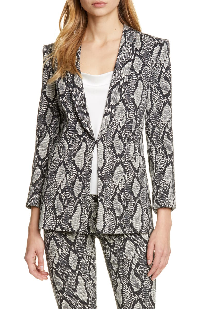 Alice Olivia Richie Snake Print Cotton Blend Jacket