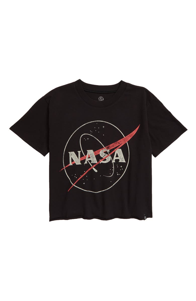 TREASURE & BOND Kids' The Graphic Tee, Main, color, BLACK- RED NASA