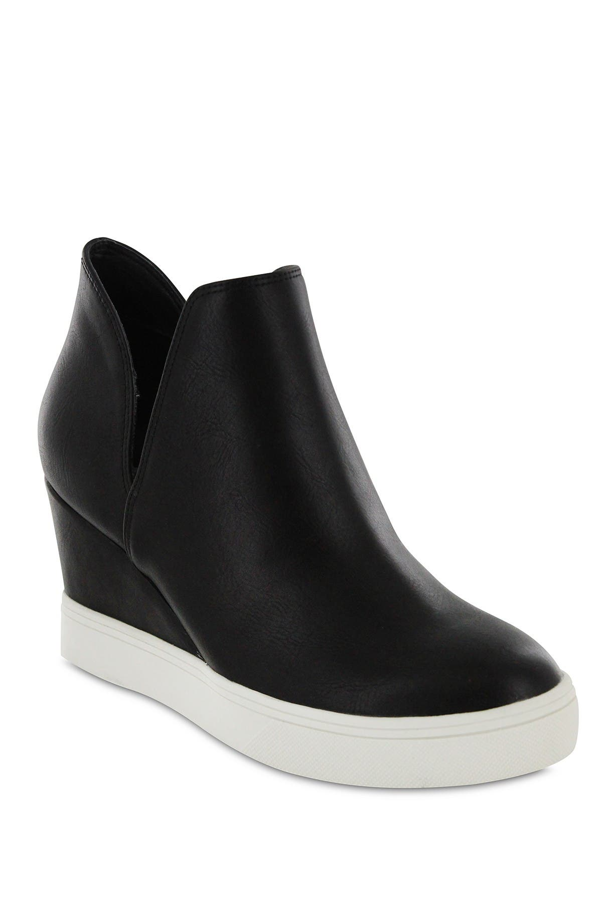 Image of MIA Kate Snake Faux Leather Wedge Sneaker