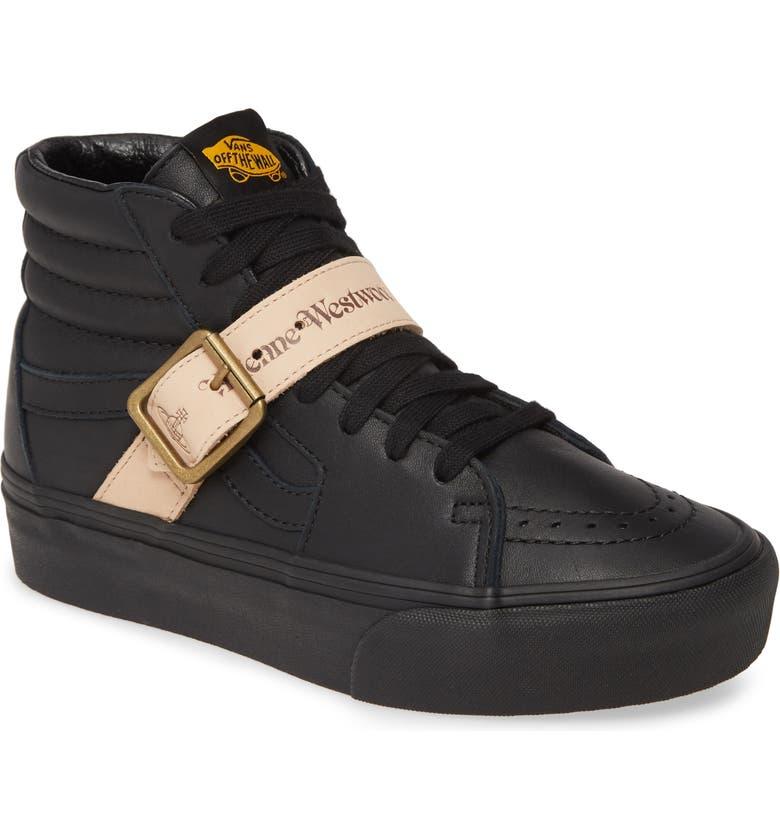 VANS x Vivienne Westwood Sk8-Hi Platform Sneaker, Main, color, LEATHER/ BLACK
