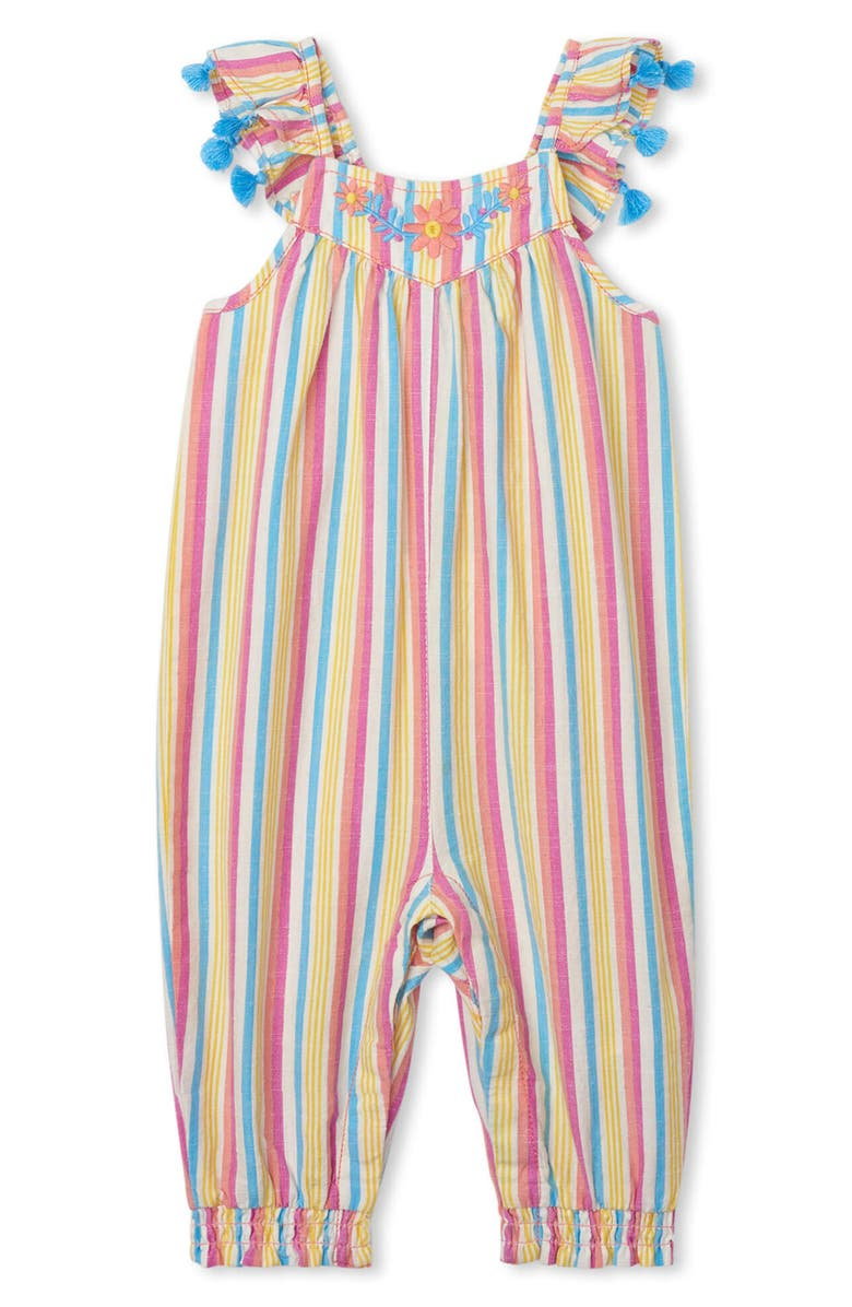 HATLEY Dream Stripes Romper, Main, color, PINK MULTI