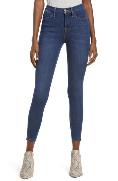 Frame Denims 24-HOUR HIGH WAIST CROP SKINNY JEANS