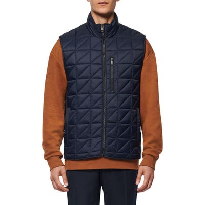 Marc New York Bramble Water Resistant Quilted Vest, Blue