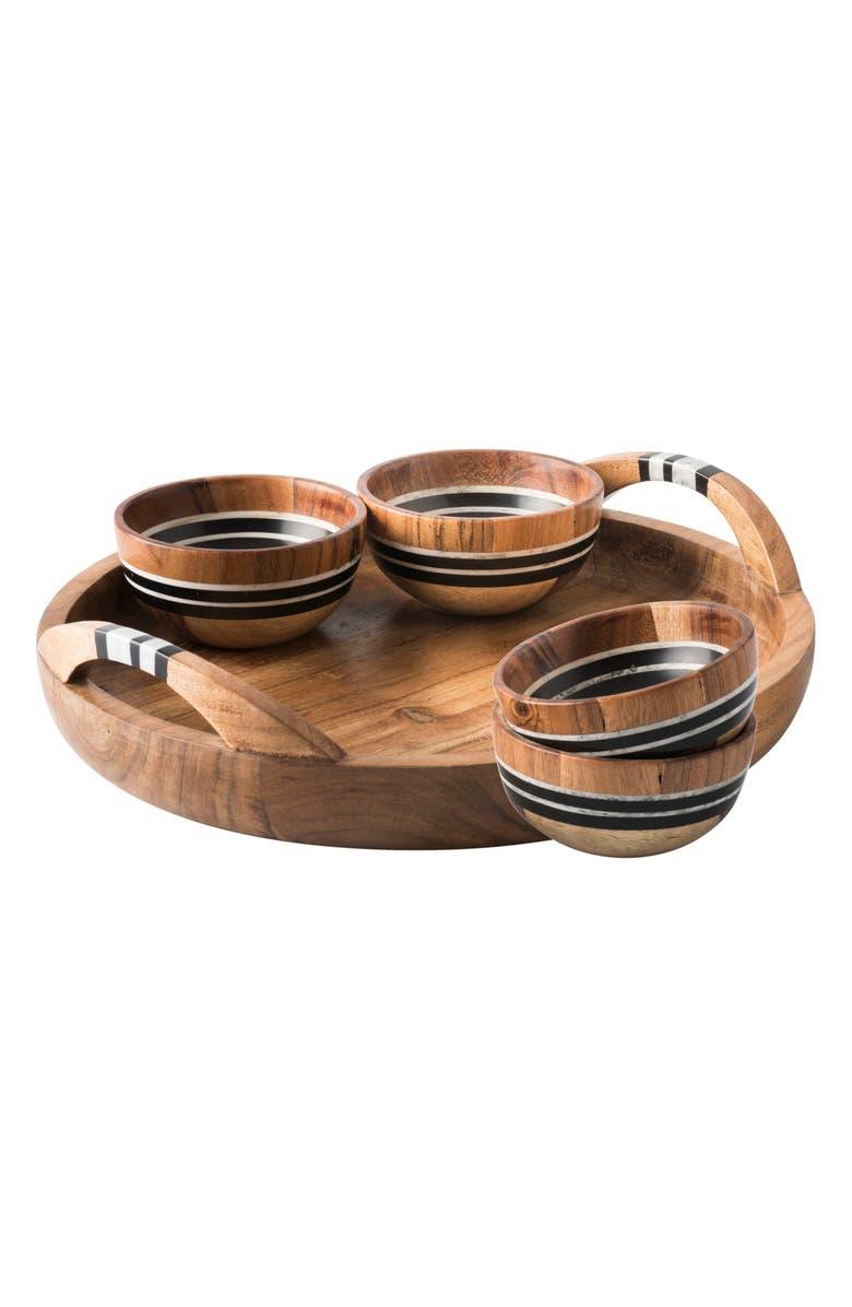 JULISKA Stonewood Stripe 5-Piece Appetizer Set, Main, color, NATURAL STRIPE