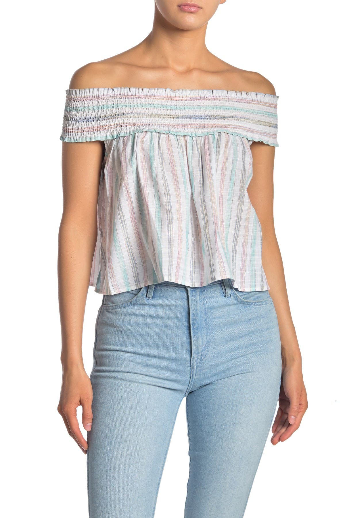 Image of: Cupcakes And Cashmere Alcyone Smocked Off The Shoulder Top Nordstrom Rack