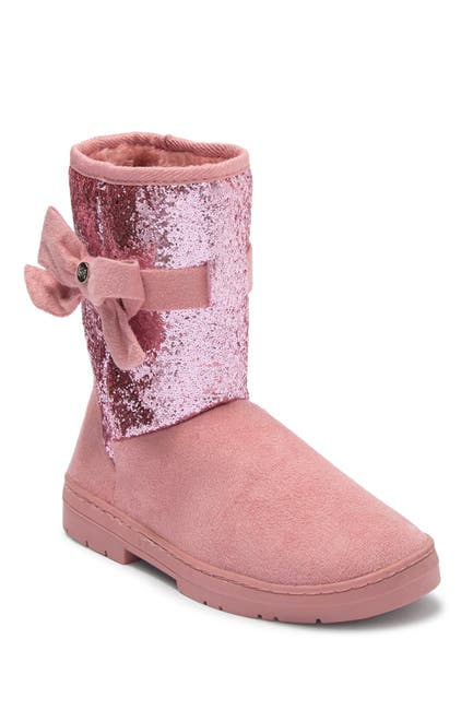 Image of bebe Microsuede Glitter Faux Fur Winter Boot