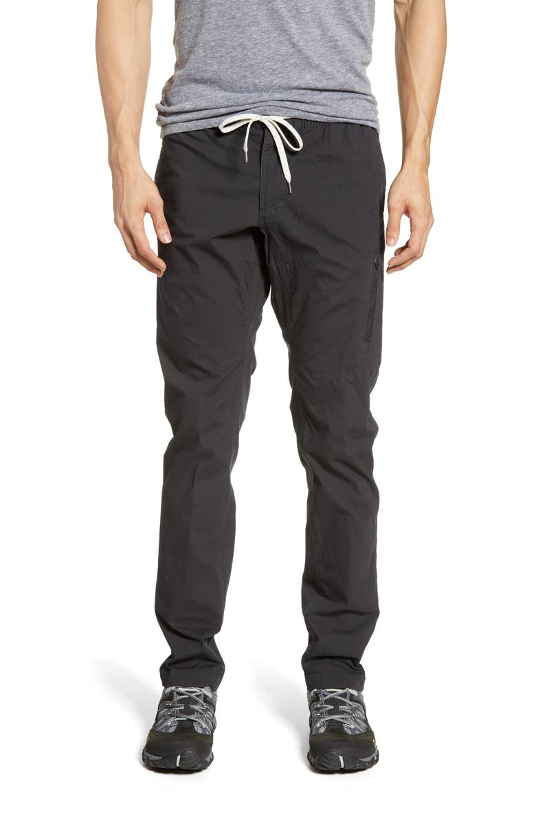 VUORI Ripstop Slim Fit Climber Pants, Main, color, CHARCOAL