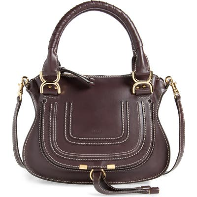 Chloe Small Marcie Calfskin Leather Satchel - Black