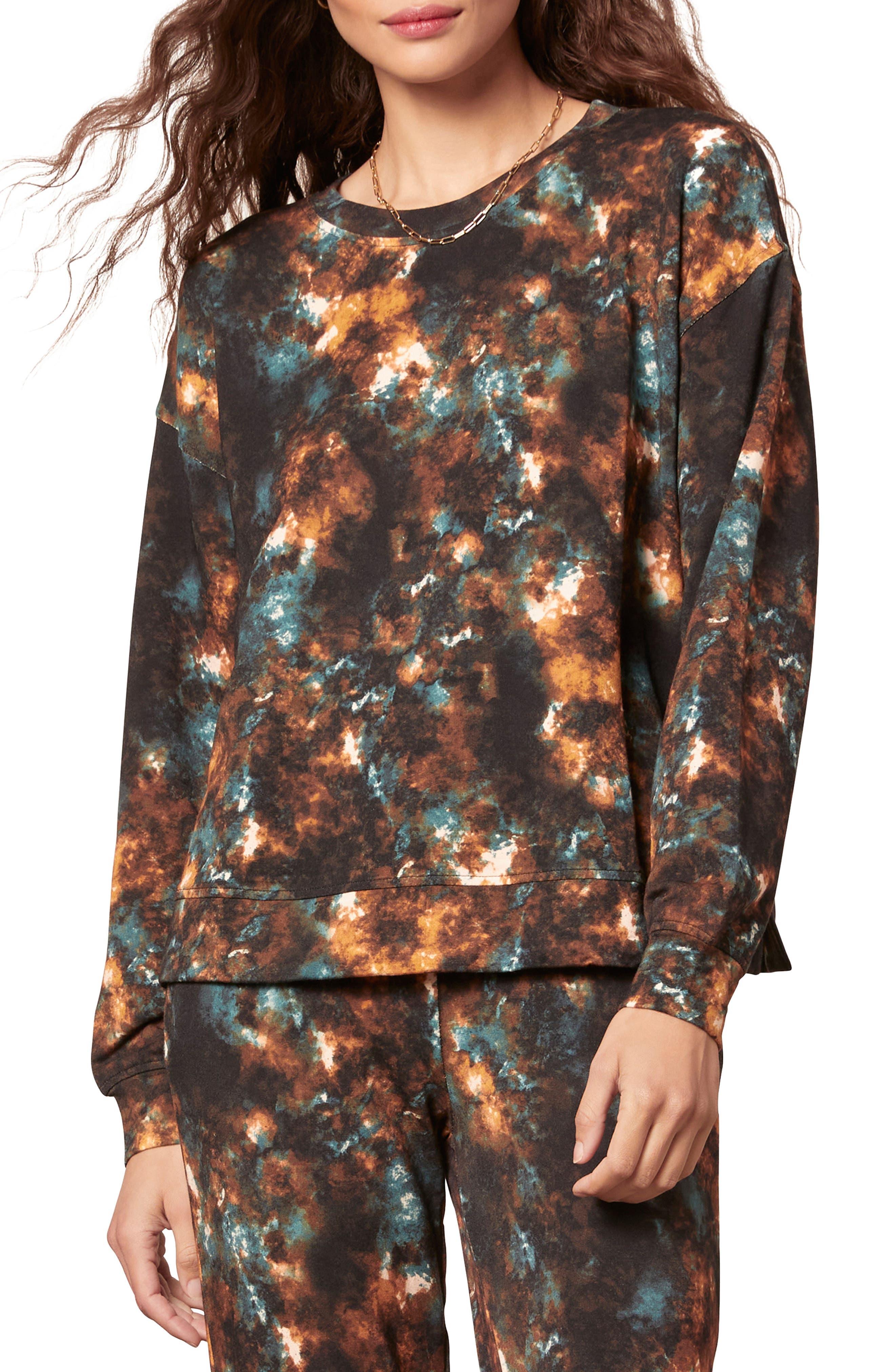 Women's Bb Dakota Cosmos Tie Dye Print Sweatshirt