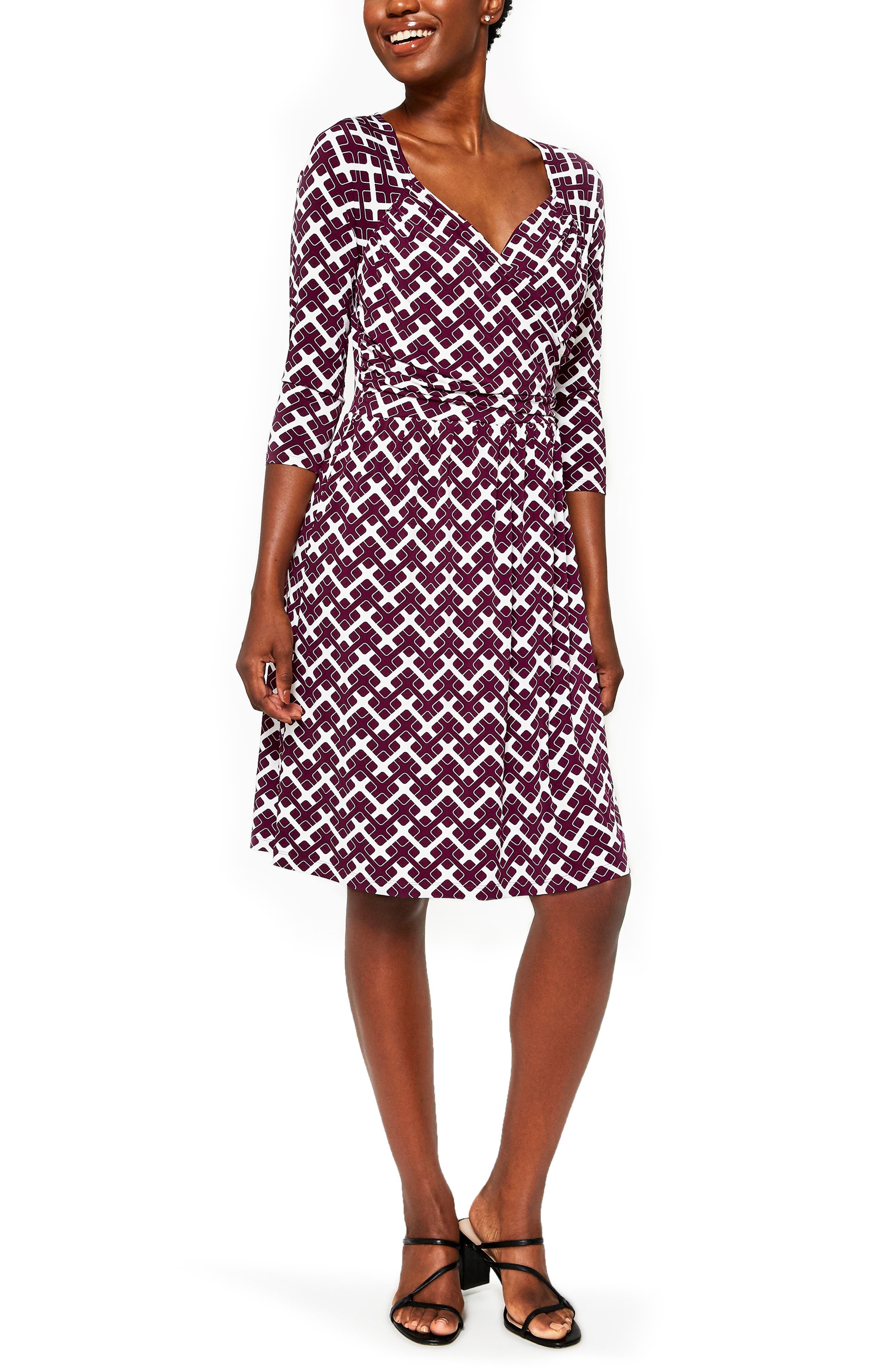 Sweetheart Print Jersey A-Line Dress