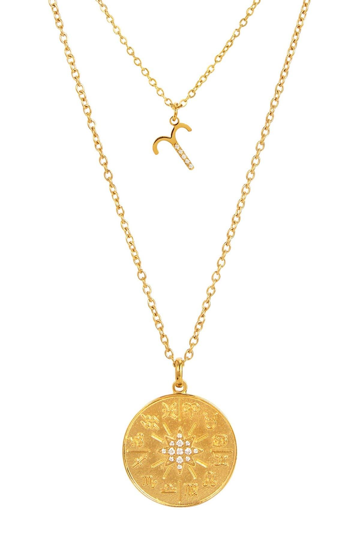 24 Zodiac layered gold necklace..free shipping !!