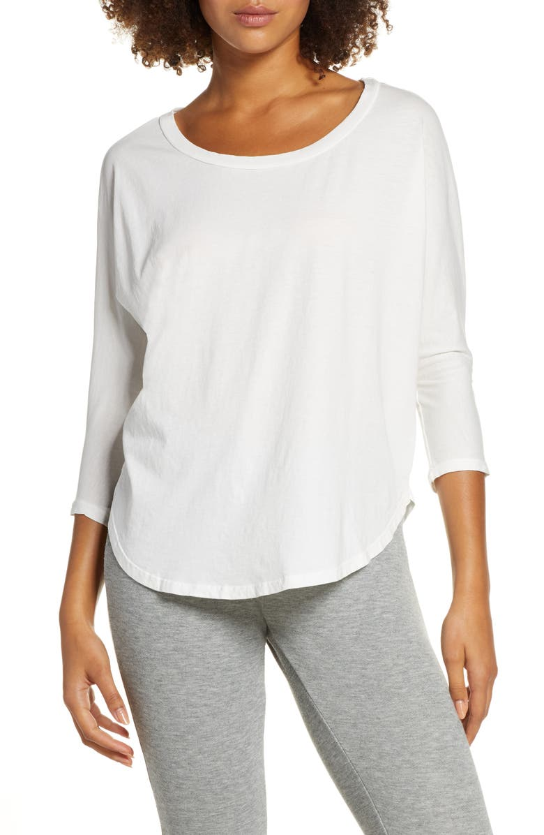 GROCERIES APPAREL Willy Organic Cotton Tee, Main, color, WHITE