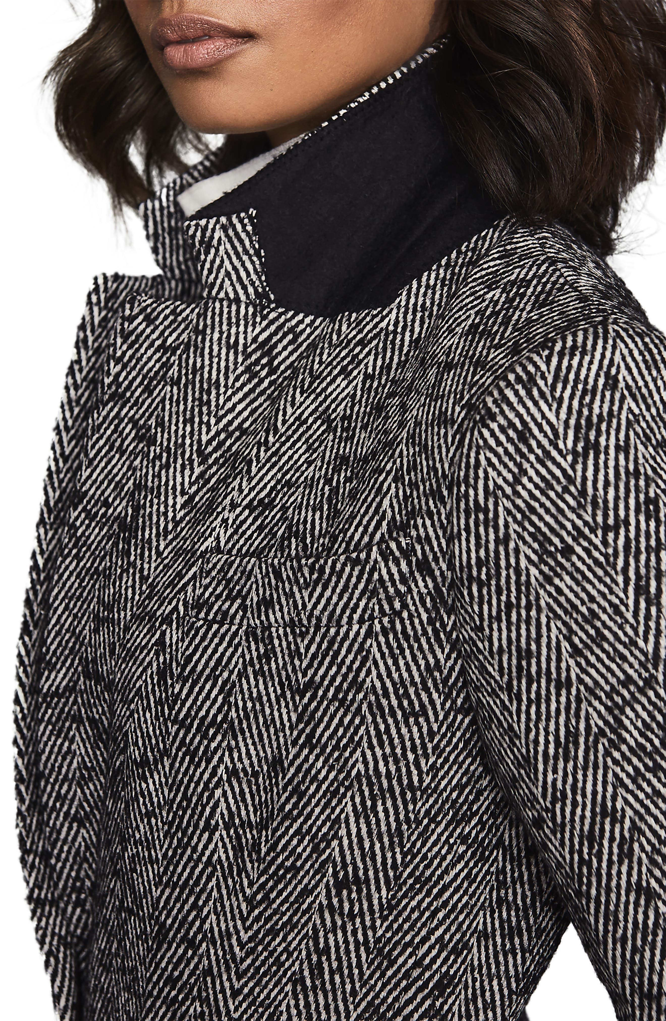 Reiss Coats Tori Herringbone Cotton & Wool Blend Jacket