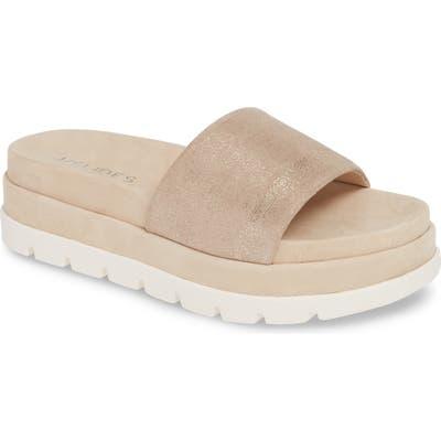 Jslides Bibi Platform Sandal, Metallic
