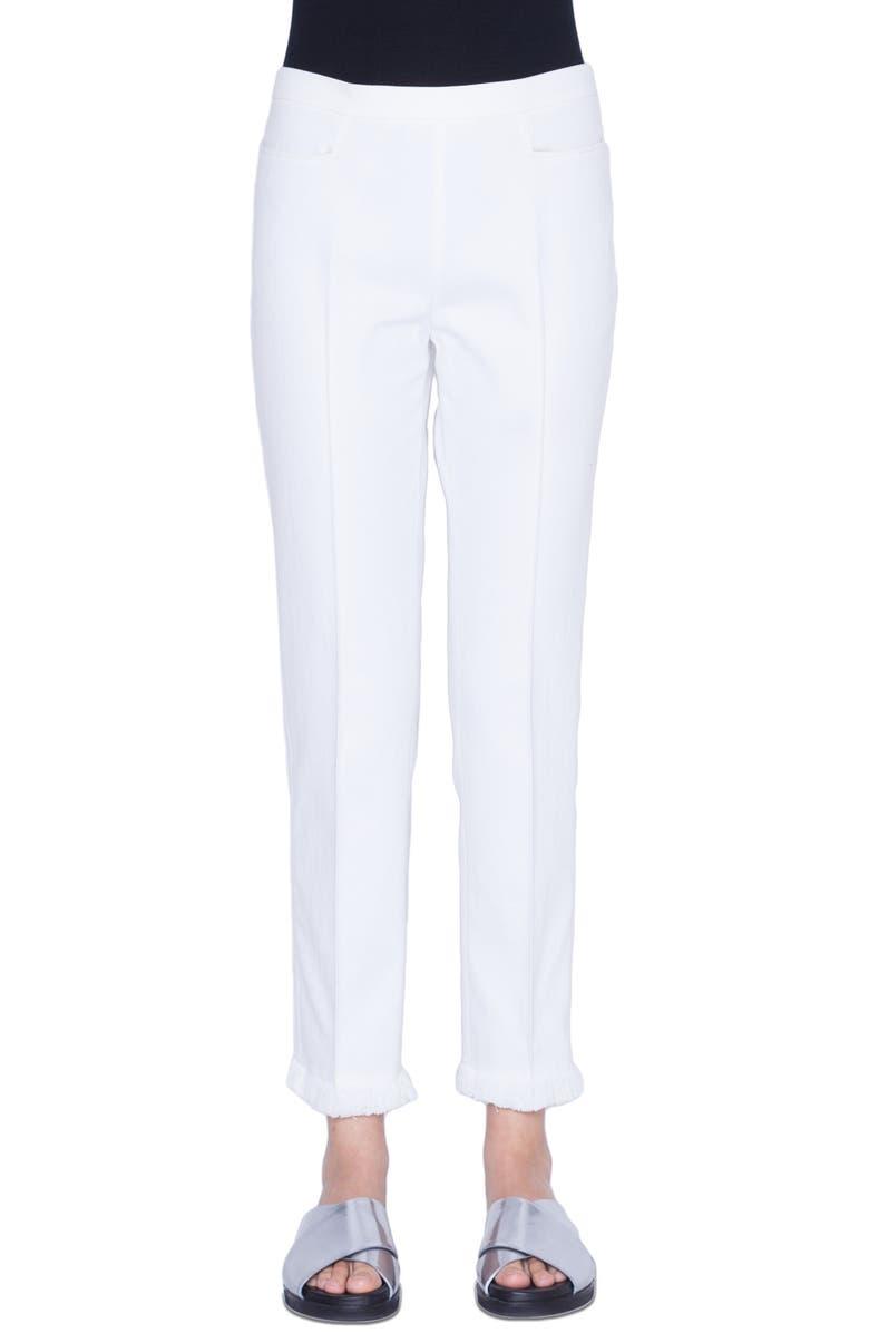 AKRIS PUNTO Franca Stretch Denim Pants, Main, color, 111