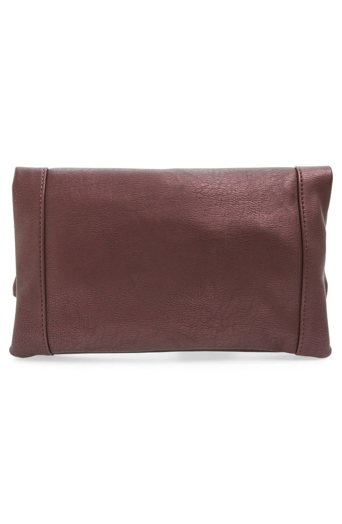 ,                             Marlena Faux Leather Foldover Clutch,                             Alternate thumbnail 67, color,                             500