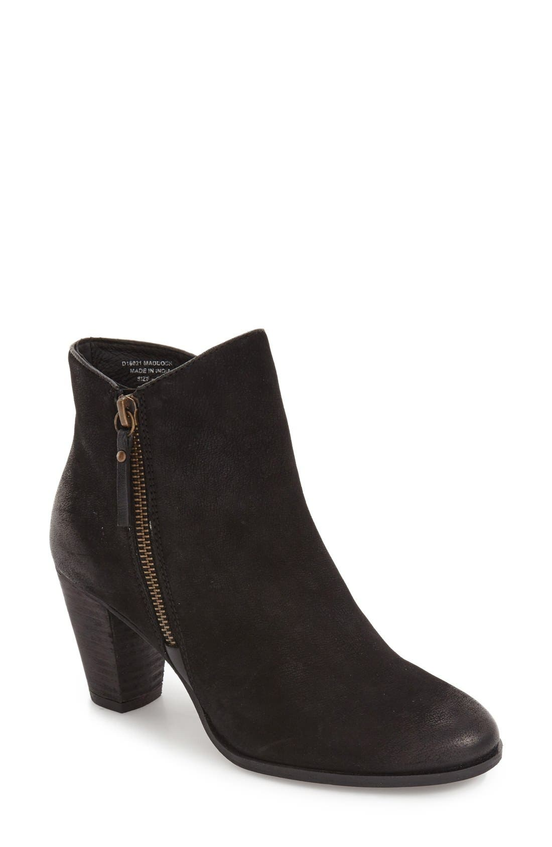 ,                             Maddock Block Heel Bootie,                             Main thumbnail 28, color,                             001