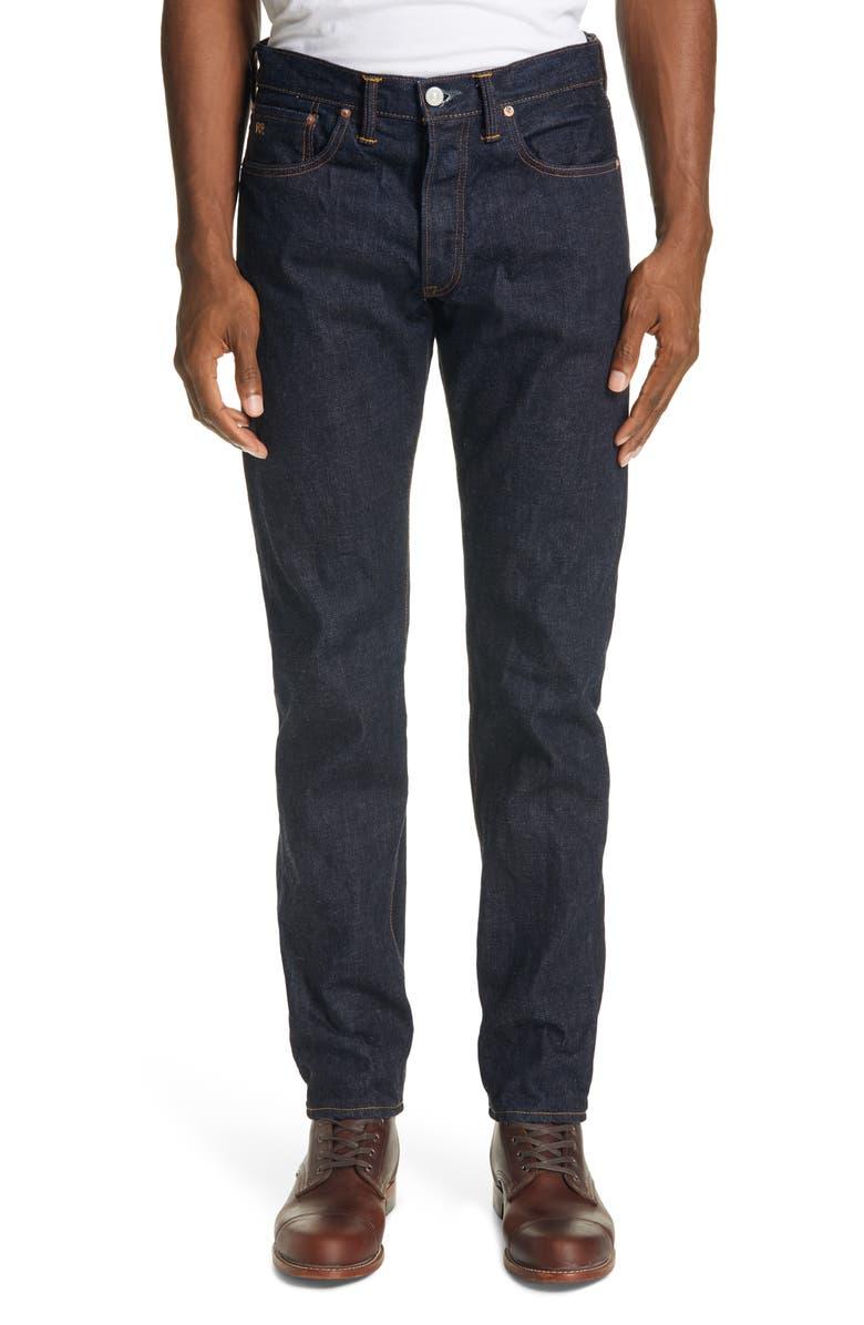 RRL Slim Fit Jeans, Main, color, RINSE