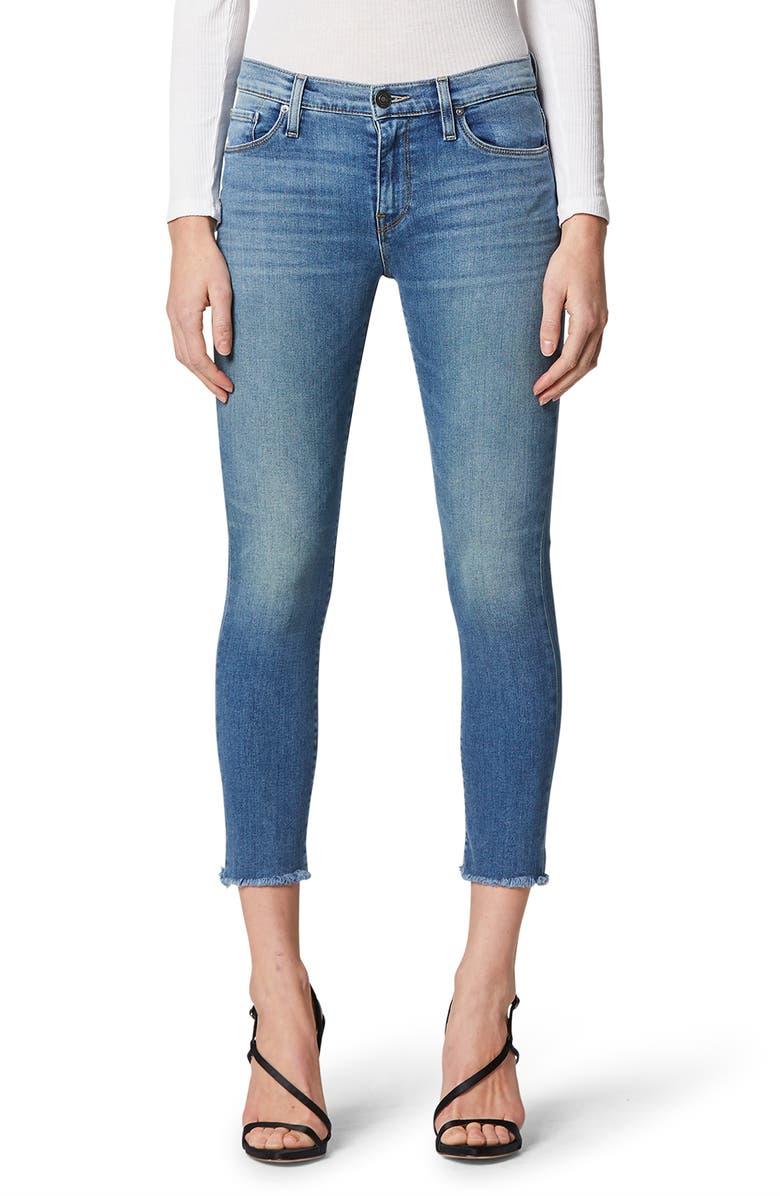HUDSON JEANS Nico Raw Hem Crop Skinny Jeans, Main, color, 460
