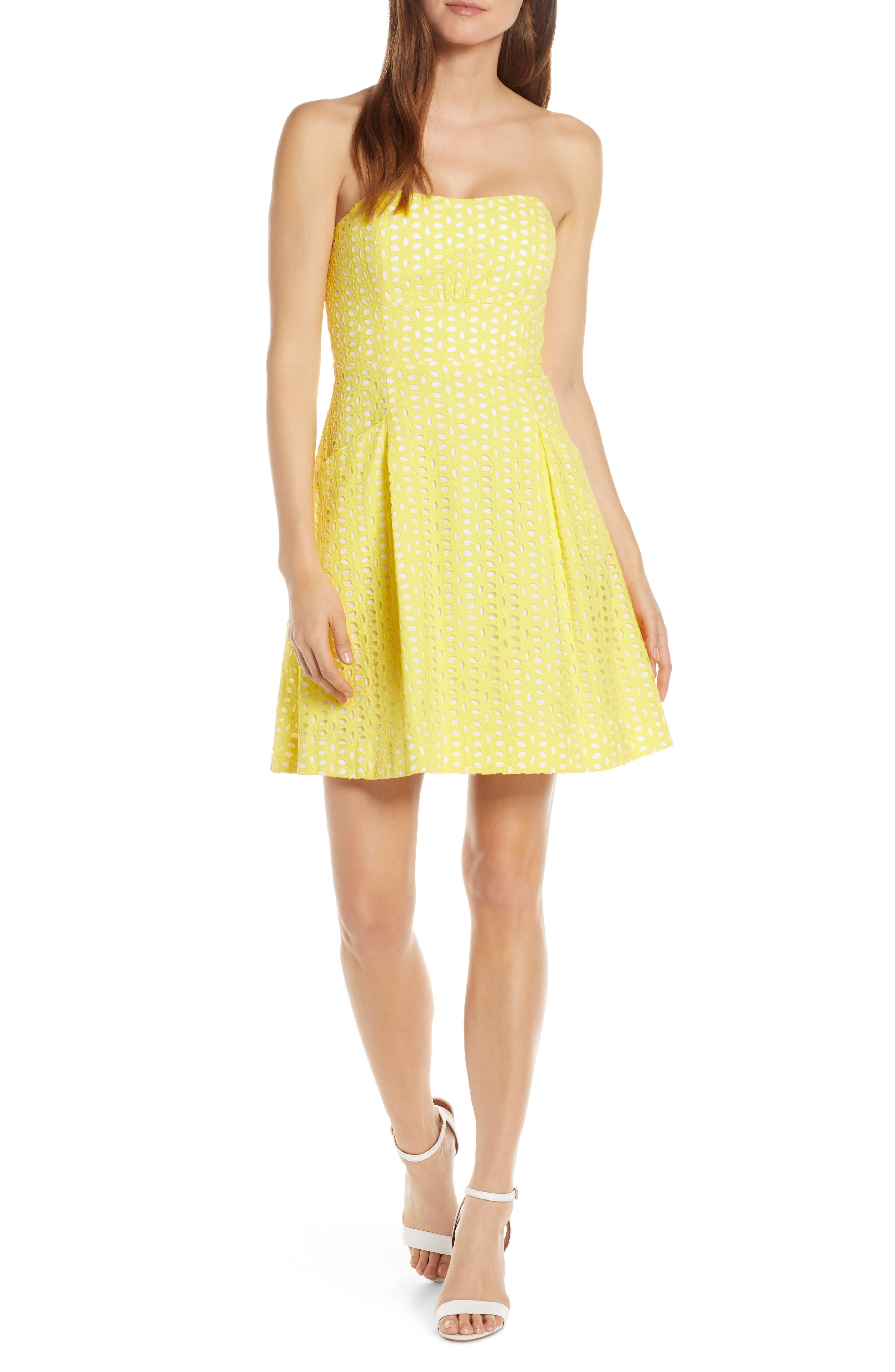 b993cf136d4ac4 Lilly Pulitzer Blossom Fit & Flare Dress, Yellow