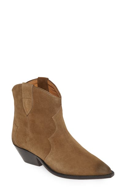 346d57c40ae Isabel Marant Dewina Western Boot In Taupe Suede | ModeSens