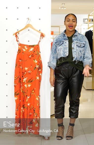 Wide Leg Linen Blend Crop Jumpsuit, sales video thumbnail