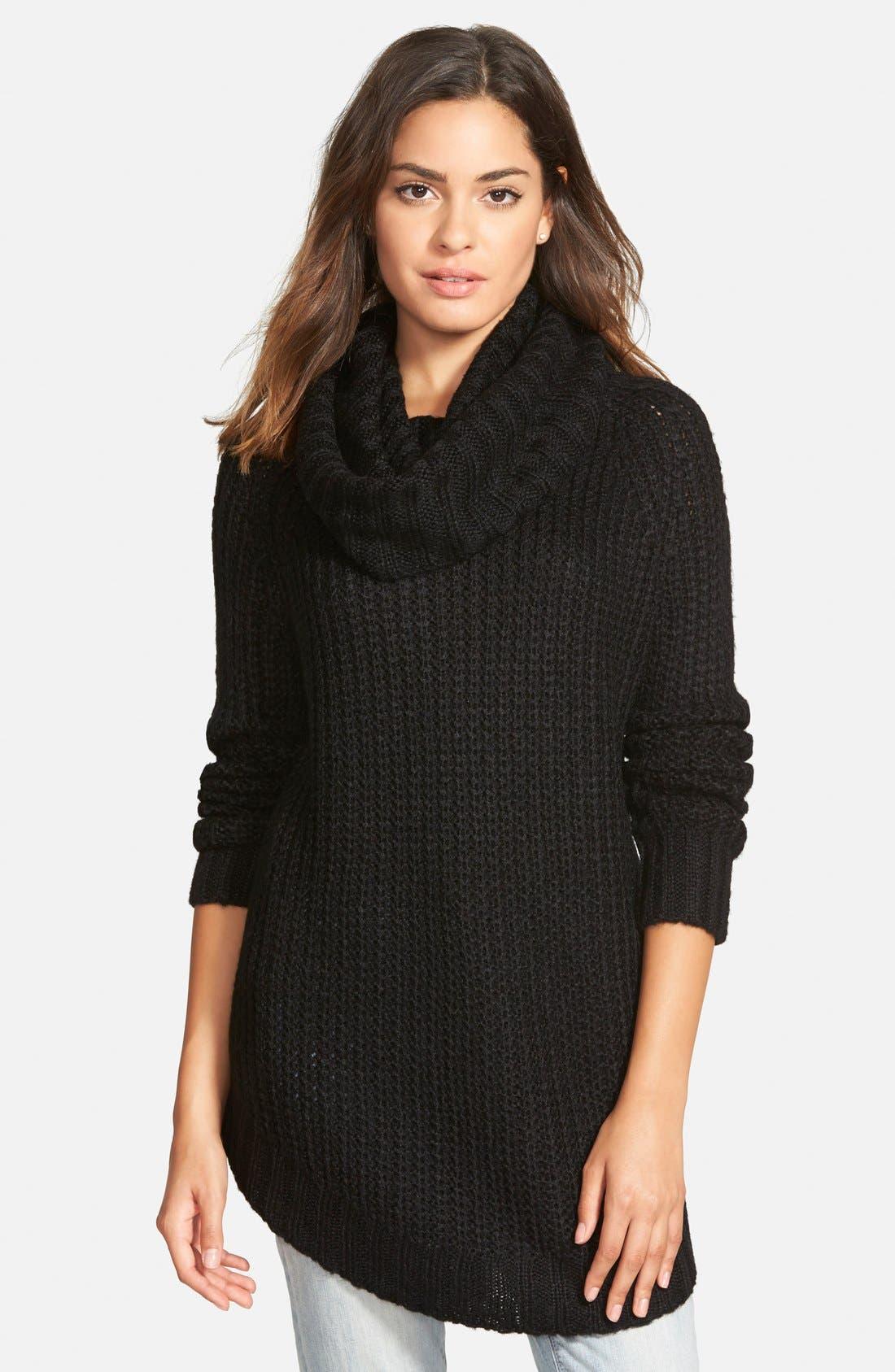 ,                             Cowl Neck Sweater,                             Main thumbnail 7, color,                             001