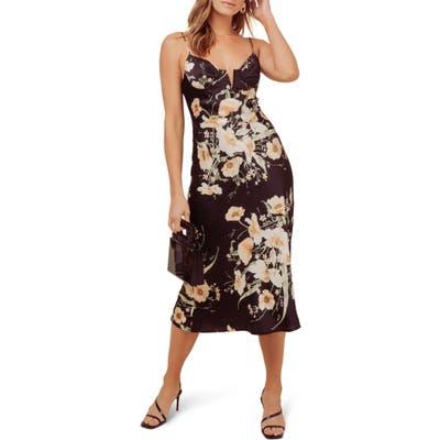 Astr The Label Coralie Midi Dress, Black