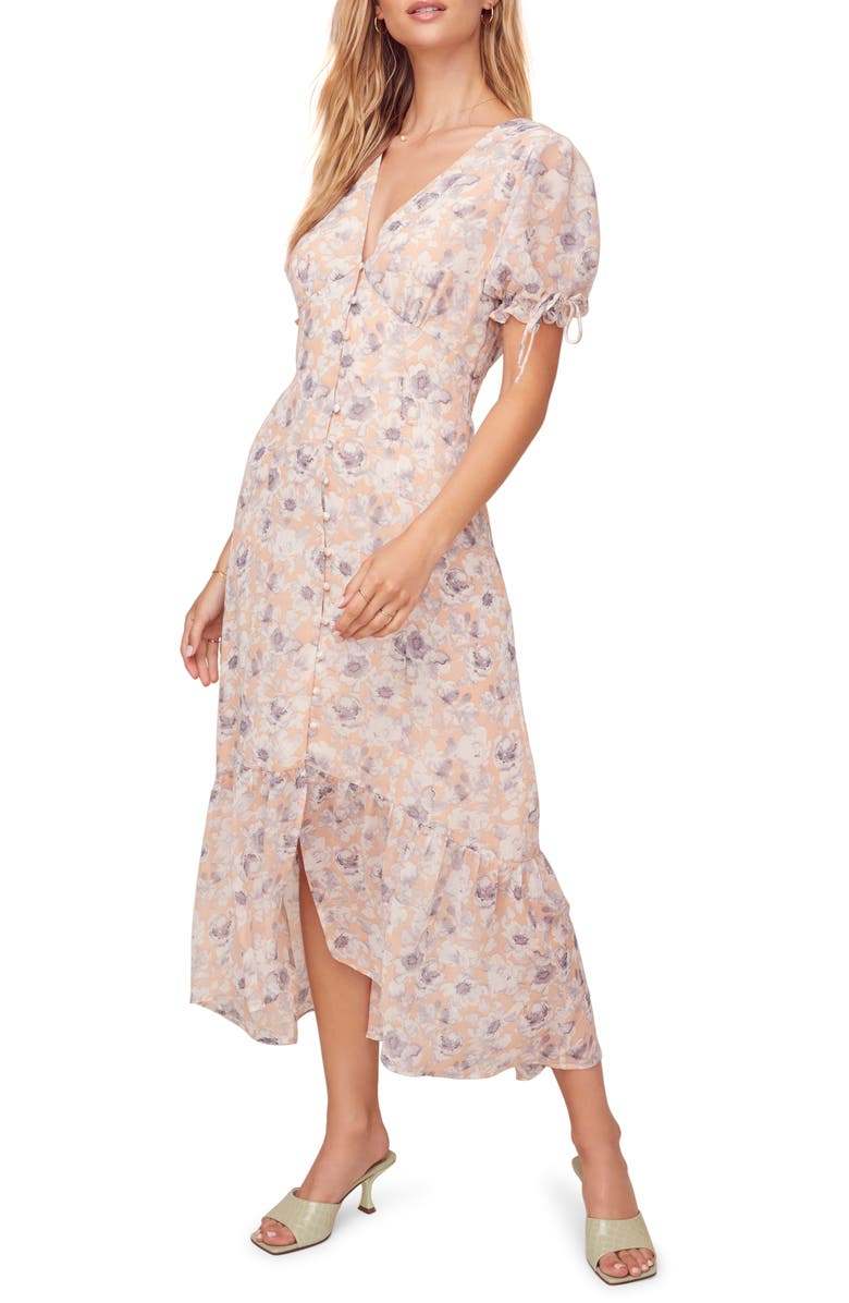 ASTR THE LABEL Chandler Floral Dress, Main, color, 650