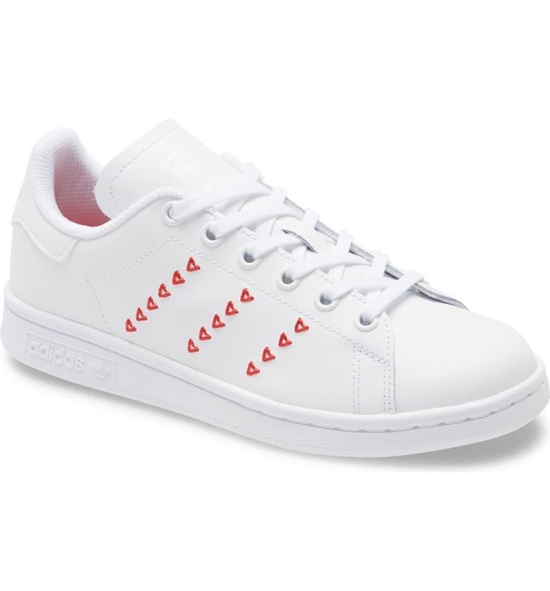 ADIDAS Stan Smith Hearts Low Top Sneaker, Main, color, 100
