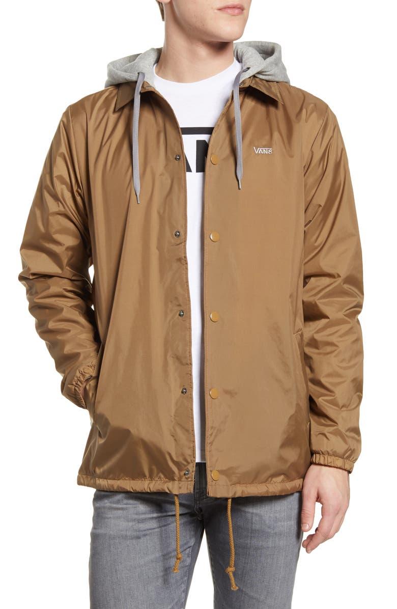 VANS Riley Hooded Jacket, Main, color, 200