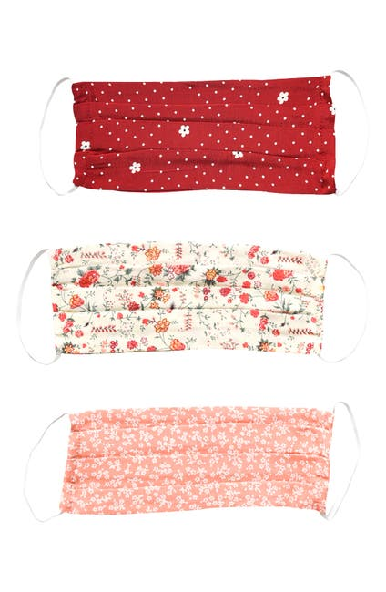 Image of MONTE Assorted 3-Pack Adult Pleated Face Masks