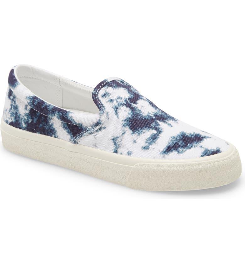 MADEWELL Sidewalk Tie Dye Recycled Canvas Slip-On Sneaker, Main, color, TIE DYE PRINT