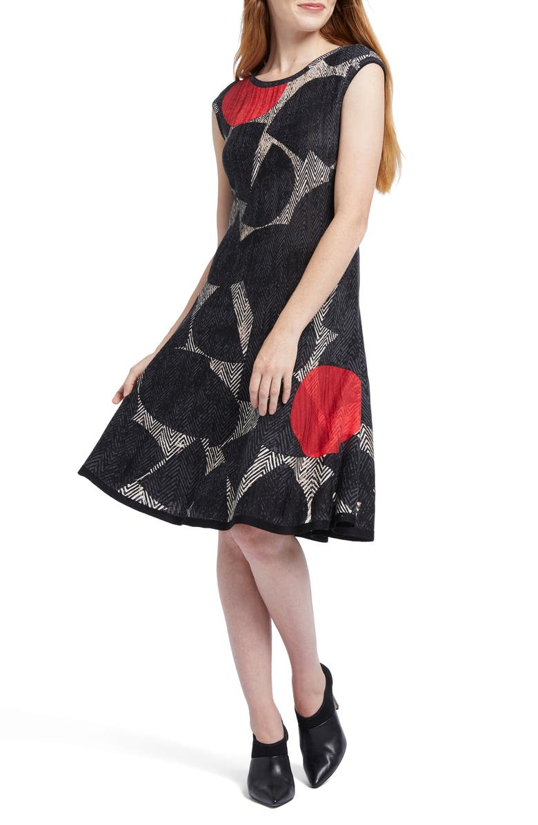 NIC+ZOE Be Bold Fit & Flare Dress, Main, color, MULTI