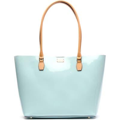 Frances Valentine Medium Trixie Patent Leather Tote - Blue