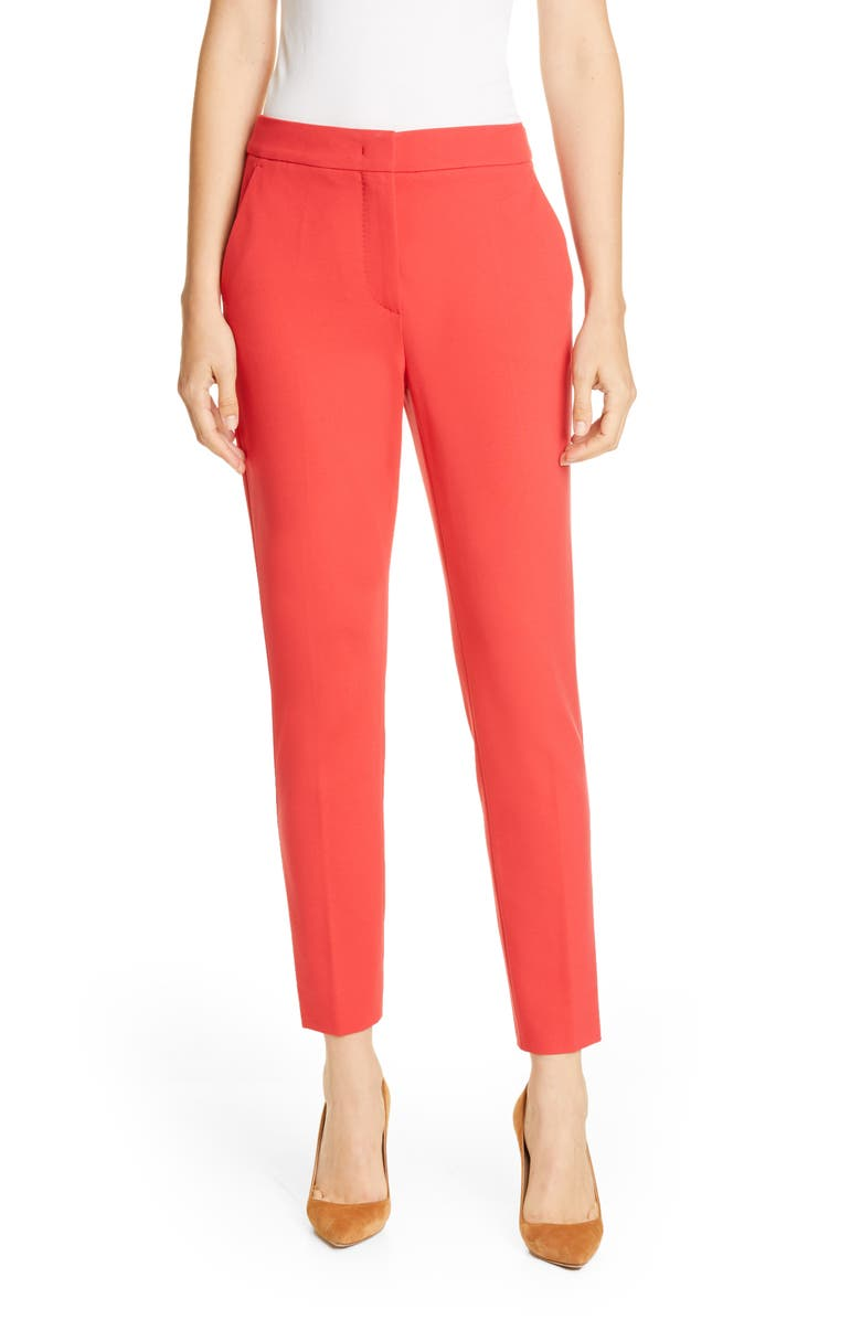MAX MARA Pegno Slim Jersey Crop Pants, Main, color, CORAL