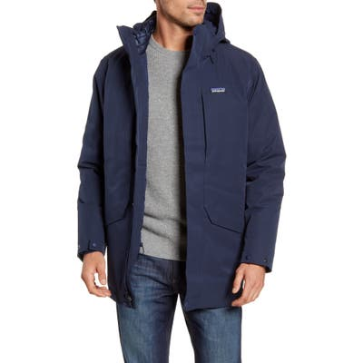 Patagonia Tres 3-In-1 Water Repellent 700 Fill Power Down Parka, Blue