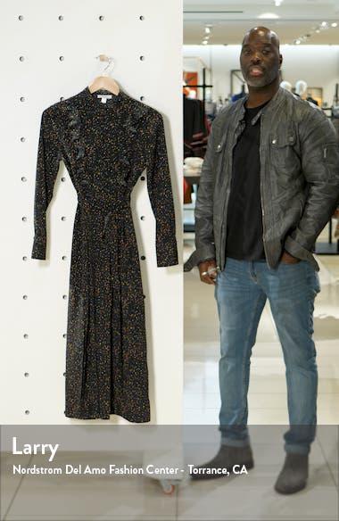 Ruffle Long Sleeve Midi Shirtdress, sales video thumbnail