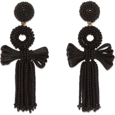 Sole Society Bow Beaded Drop Earrings
