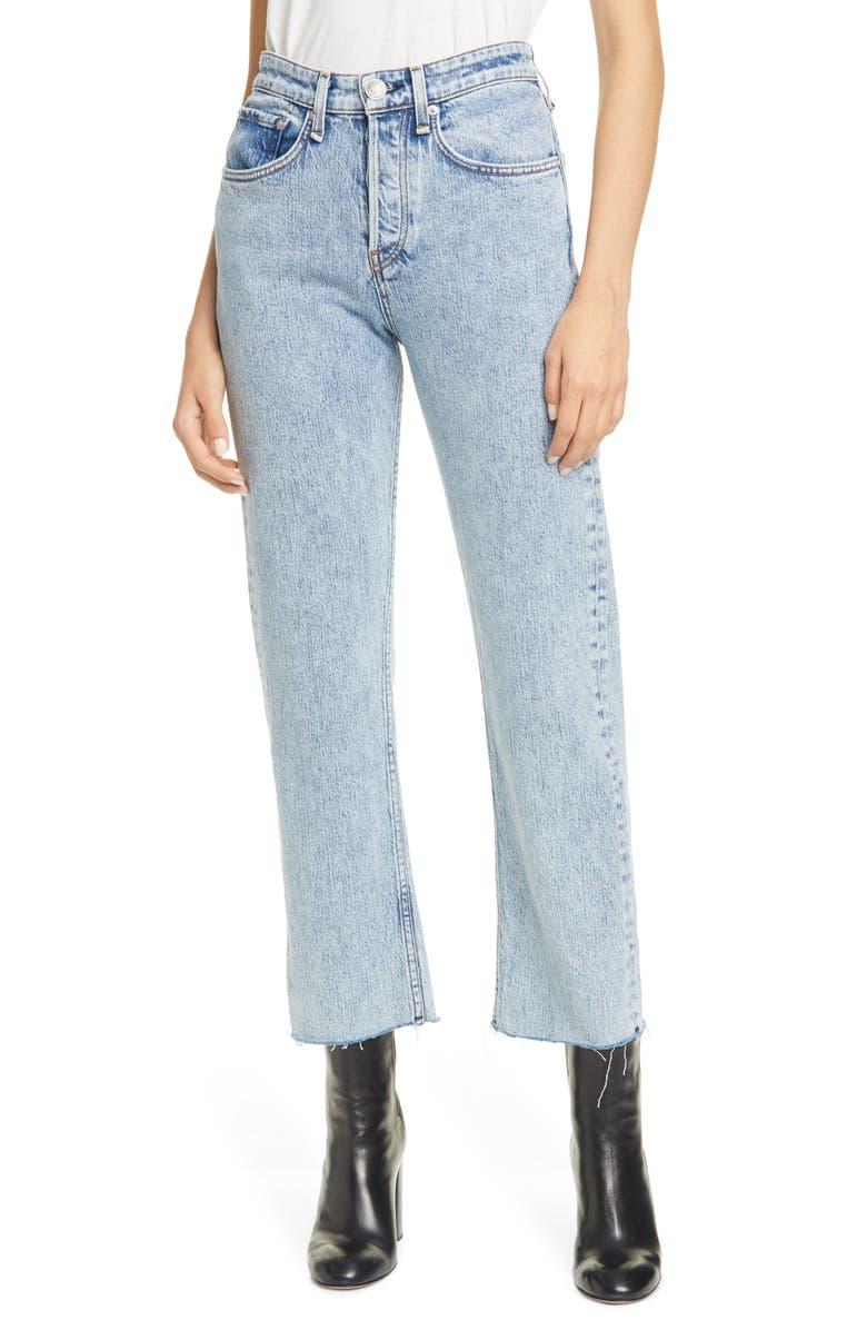 RAG & BONE Maya High Waist Ankle Straight Leg Jeans, Main, color, GLEN OAKS