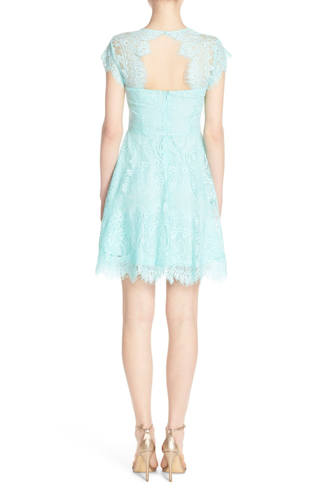 ,                             Rhianna Open Back Lace Fit & Flare Cocktail Dress,                             Alternate thumbnail 49, color,                             445