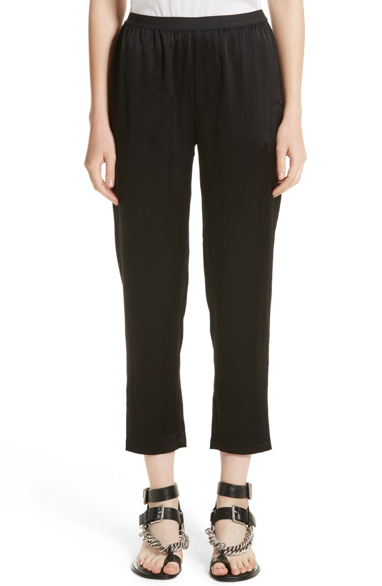 893e22f47ad7a T by Alexander Wang Wash N Go Woven Pants, Main, color, 001